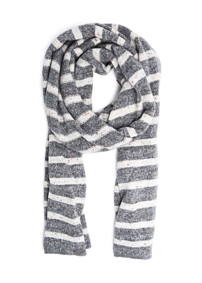 Lurex striped muffler