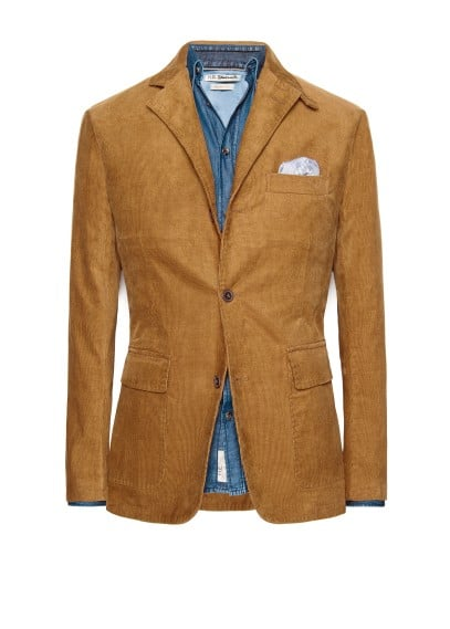 Straight-fit corduroy blazer