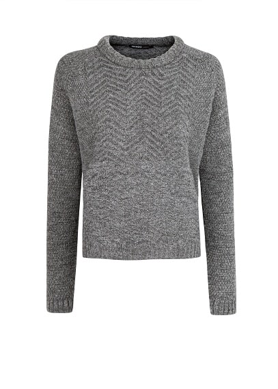 Zigzag cotton-blend sweater
