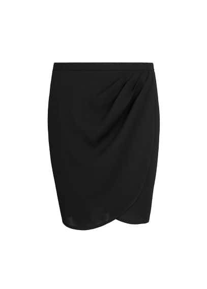 Crepe wrap skirt