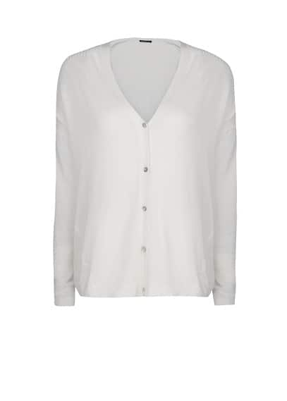 Ribbed details lightweight cardigan
