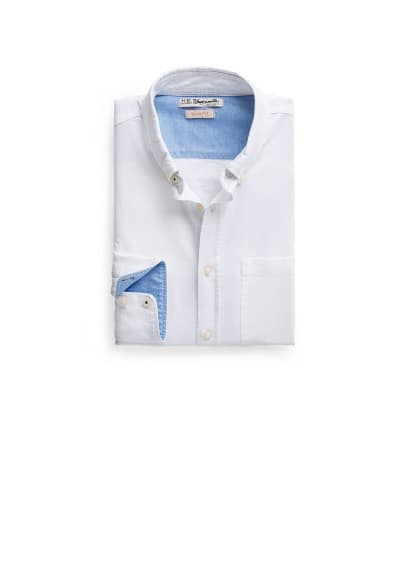 Camisa slim-fit Oxford bolsillo