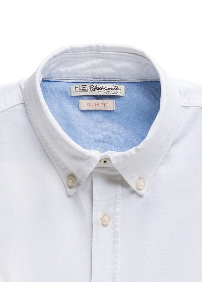 Slim-fit pocket Oxford shirt