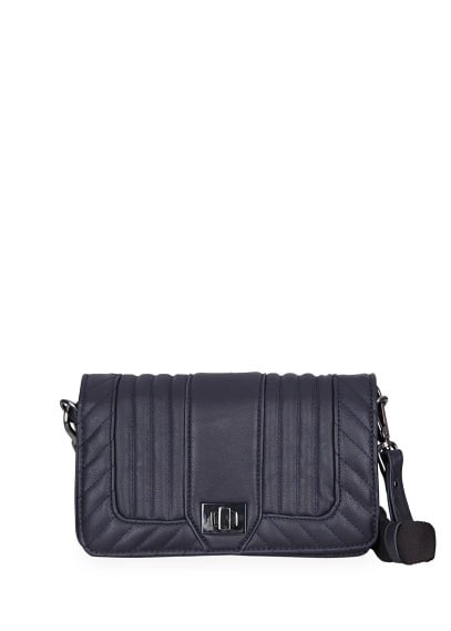 Quilted flap shoulder bag