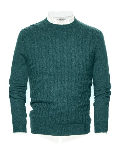 Premium cable-knit cashmere sweater