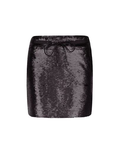 Sequined miniskirt