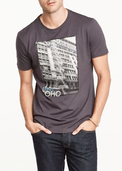 Living Soho-print t-shirt
