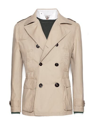 Canvas cotton trench