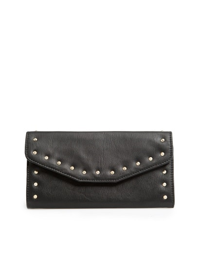 Studded flap wallet