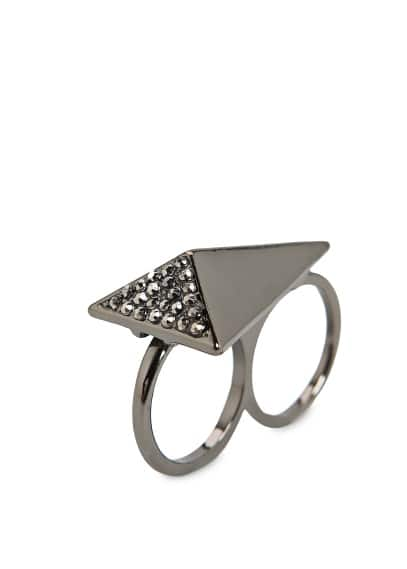 STRASS DOUBLE RING