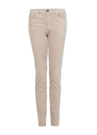 Slim-fit corduroy trousers