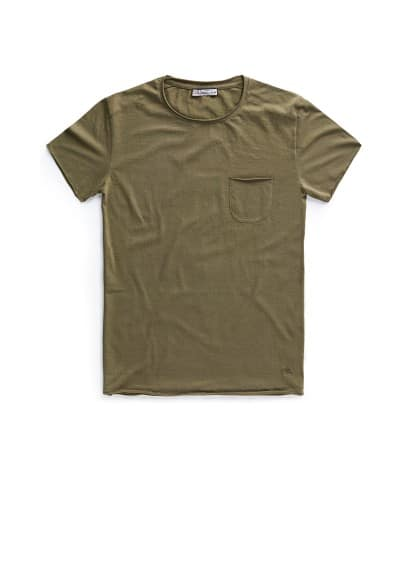 Chest pocket cotton t-shirt