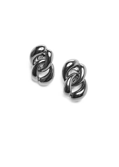 Metal links earrings