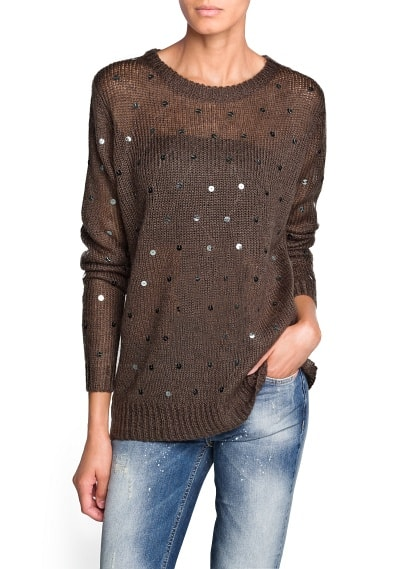 Pullover mohair paillettes