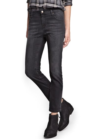 Slim boyfriend black jeans