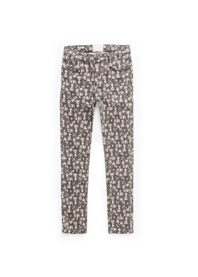Slim-fit liberty print jeans