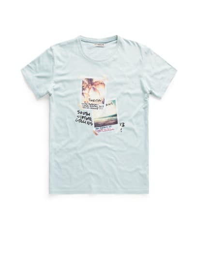 Camiseta estampada polaroids