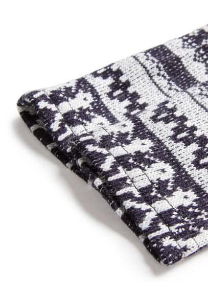 Fair isle pattern knitted leggings