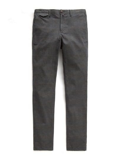 Straight-fit textured chinos