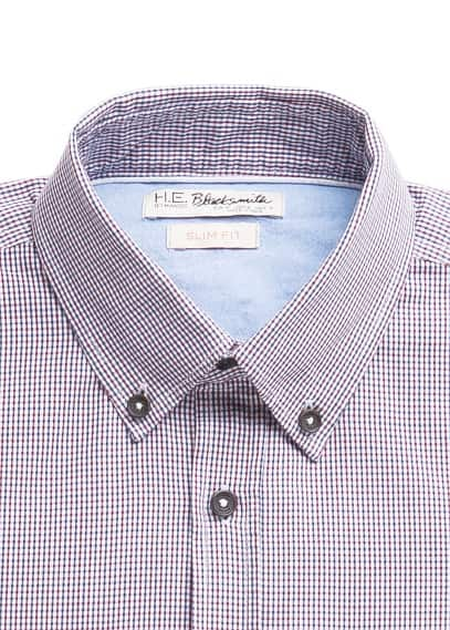 Slim-fit gingham check
