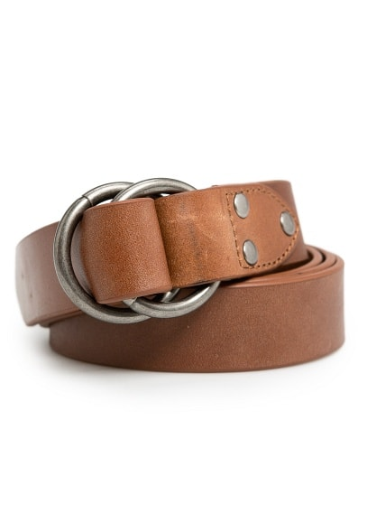 DOUBLE RING LEATHER BELT