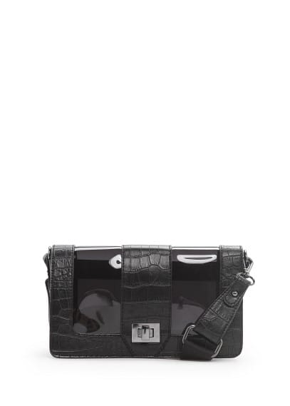 Vinyl panel messenger bag