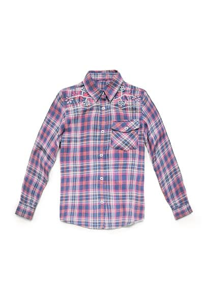 EMBROIDERED CHECK SHIRT