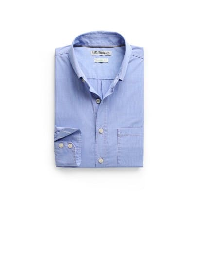 Camisa straight-fit algodón