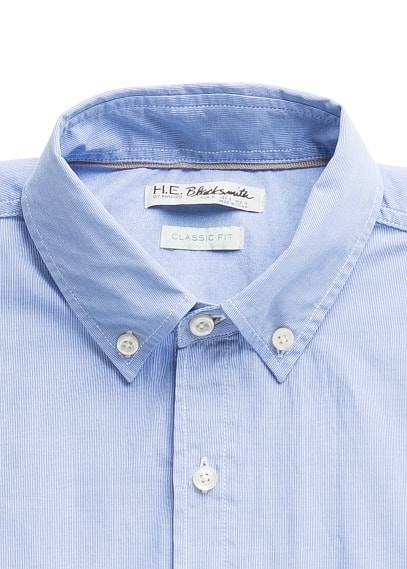 Straight-fit cotton shirt