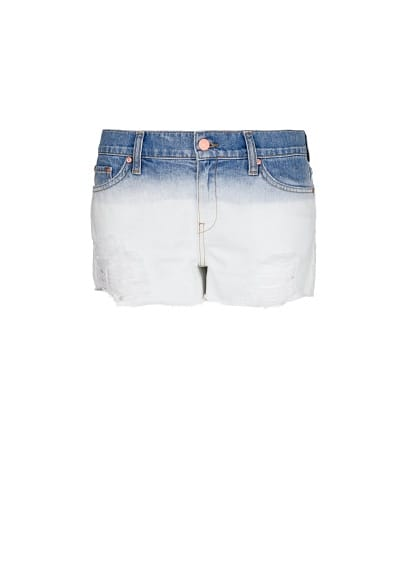 Ombré denim shorts