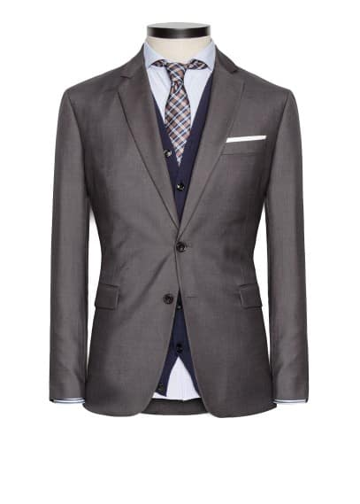 Straight-fit suit blazer