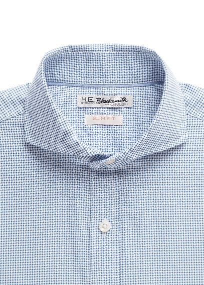 Slim-fit houndstooth shirt