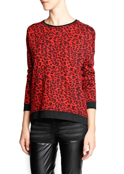 Leopard print cotton sweatshirt