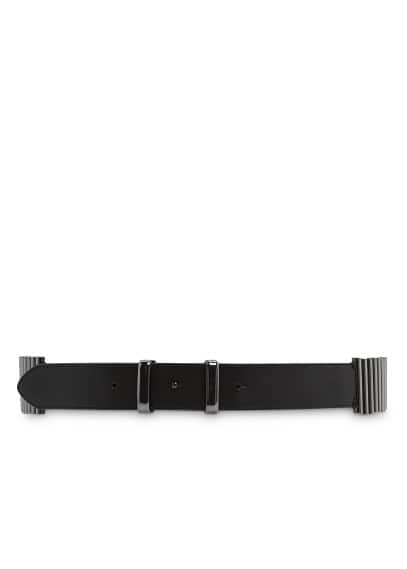 Cylindrical pieces faux leather belt