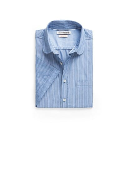 Slim-fit short sleeved shirt