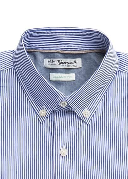 Straight-fit bengal stripe shirt