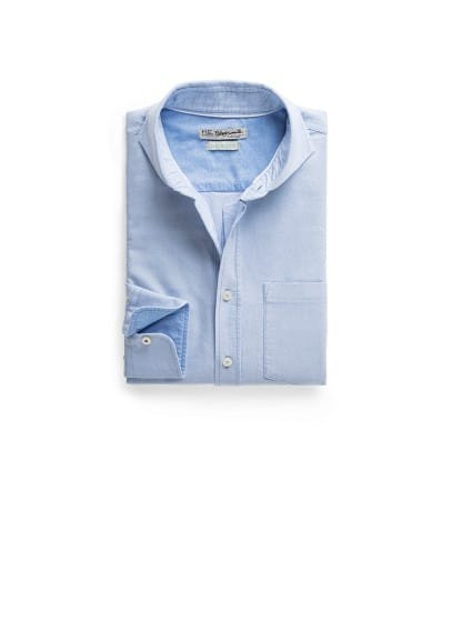Camisa straight-fit Oxford bolsillo