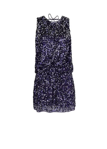 Open back sequined dress