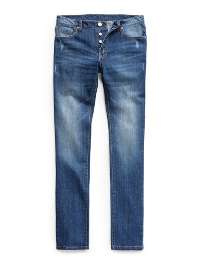 SLIM-FIT MEDIUM WASH BOB JEANS