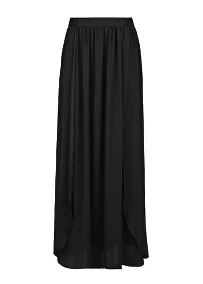 Side slit long skirt