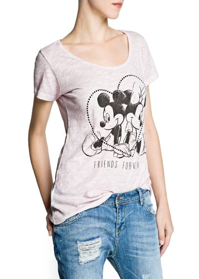 T-shirt estampado Disney strass