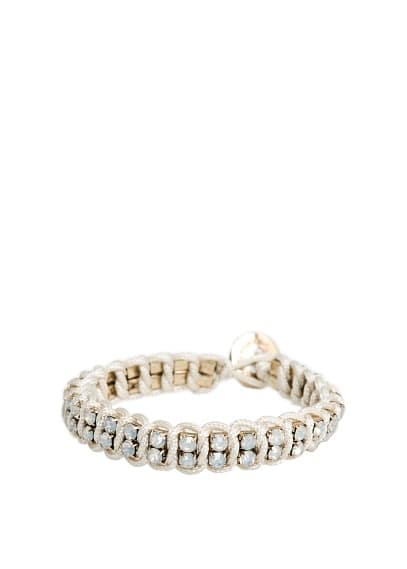 Braided cord strass bracelet
