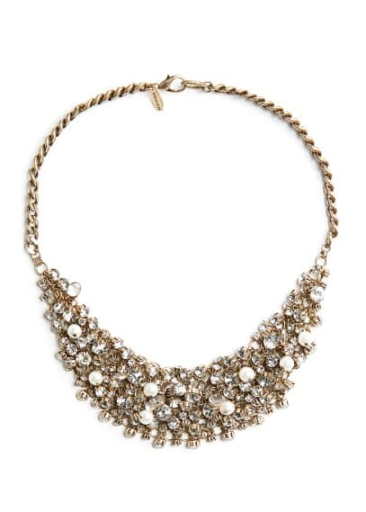 TOUCH - Crystals and pearly beads necklace
