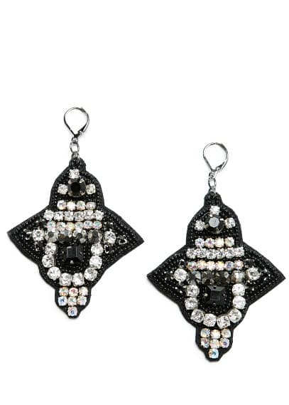 Beaded velvet earrings