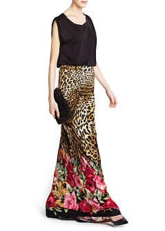 DRAPED DETAIL LONG SKIRT