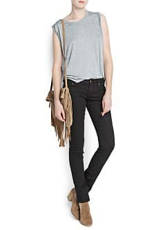Slim-fit black jeans
