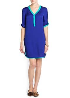 BICOLOR SHIRT DRESS