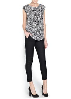 Leopard print cotton t-shirt