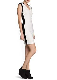 Contrast side tailored dress