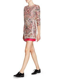 Scarf print cotton dress